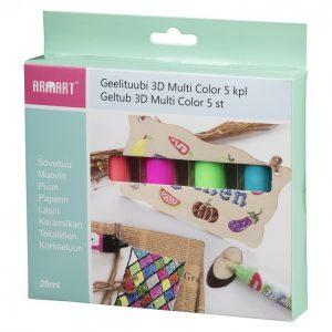Armart Geelituubi 3d Multi Color 5 Kpl