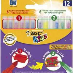 Bic Kids Huopakynät + Taikatussit Mini Col&Create