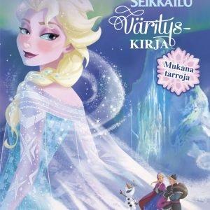 Disney Frozen Värityskirja Glitterillä Ja Tarroilla