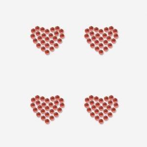 Heyda Heart Punainen Timantti Tarra-Arkki