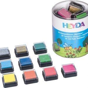 Heyda Rainbow Leimasinvärityyny 10 Kpl / Pkt